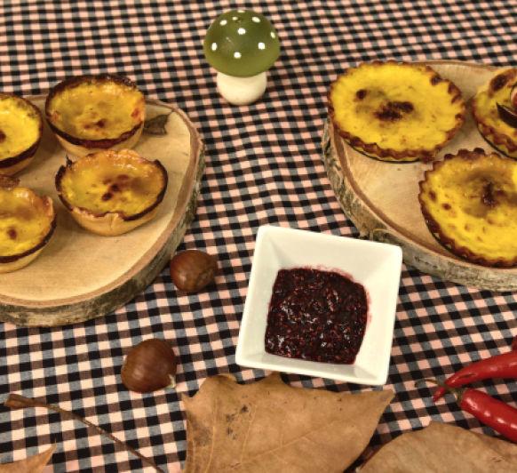 Tartaletas de queso brie con salsa de chile y mermelada de frambuesa con Thermomix® . Con vídeo.