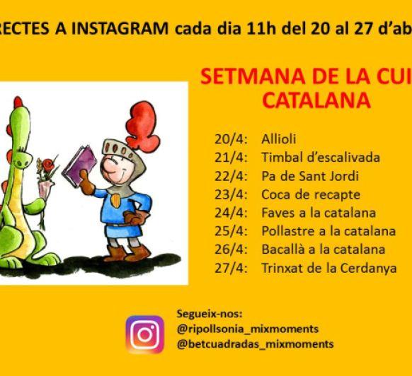 Setmana de la Cuina Catalana!! Del 20 al 27 d'abril