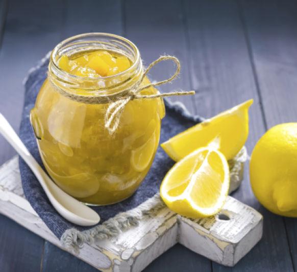 Mermelada de limón con jengibre y anises
