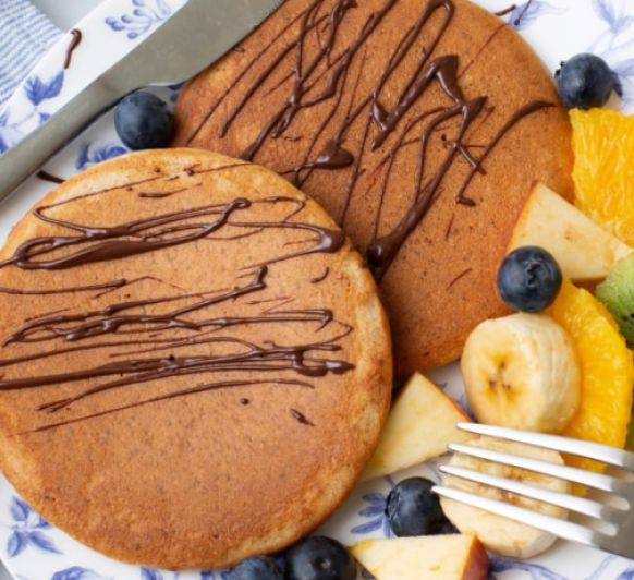 Tortitas integrales con almendra y chocolate y Thermomix®