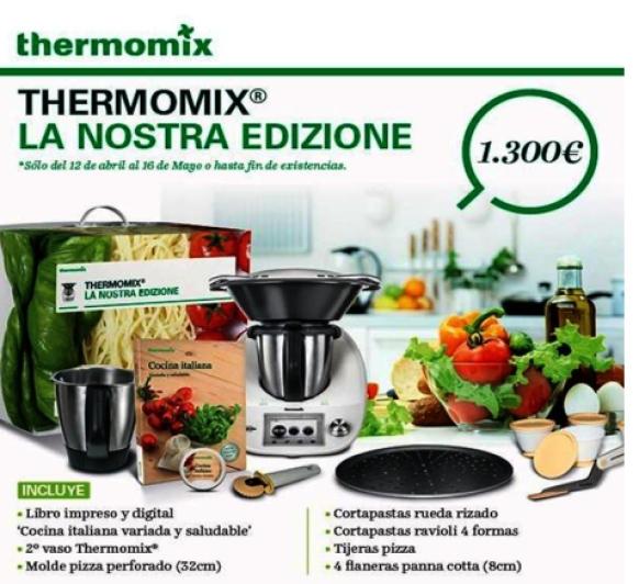 TALLER DE COCINA ITALIANA 6/5/2016 con Thermomix®