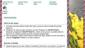 BACALAO CONFITADO CON ALIOLI DE AJO NEGRO CON Thermomix®